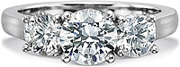 Precision Set Three Stone Diamond Engagement Ring
