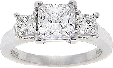 This Image Shows The Setting With A 1 50ct Princess Cut Center Diamond