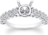 Princess Cut Prong Set Diamond Engagement Ring