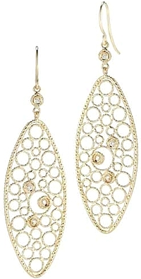 Roberto Coin Bollicine Diamond Oval Earrings