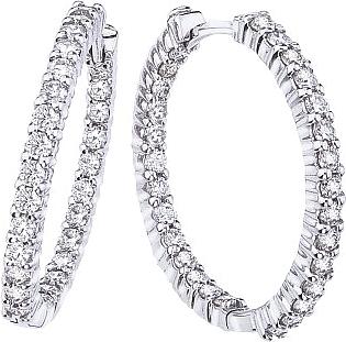 Roberto Coin Diamond Hoop Earrings 1 53ctw 001613awerxo