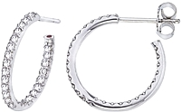 Roberto Coin Diamond Hoop Earrings- .52ctw