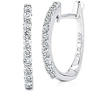 Roberto Coin Diamond Hoop Earrings-.20ctw