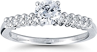 Round Brilliant Prong Set Diamond Engagement Ring