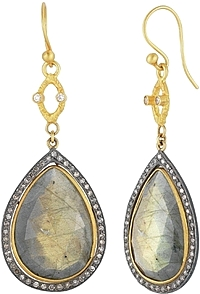 Sara Weinstock Labradorite & Diamond Earrings