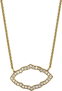 Sara Weinstock Yellow Gold Taj Diamond Necklace