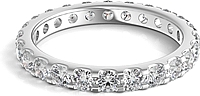 Scalloped Prong Round Diamond Eternity Ring 1.50ct tw