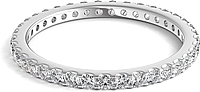 Scalloped Prong Round Diamond Eternity Ring .50ct tw