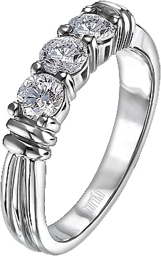 Scott Kay 3 Stone Diamond Wedding Band