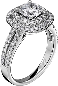 Scott Kay Double Halo Diamond Engagement Ring