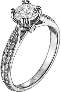 6c27e47d1 Scott Kay Engraved Diamond Engagement Ring