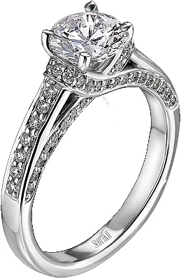 Scott Kay Enement Rings | Scott Kay Pave Diamond Engagement Ring 38ct Tw M1214rd10