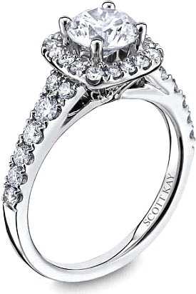 a742f35fce9d0 This image shows the setting with a 1.00ct round brilliant cut center  diamond. The
