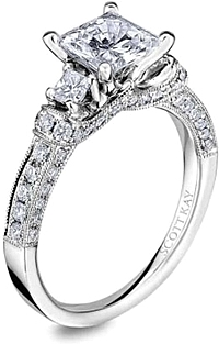 Scott Kay Princess Cut Diamond Engagement Ring