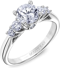 Scott Kay Prong Set Diamond Engagement Ring