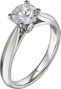 Scott Kay Solitaire Diamond Engagement Ring