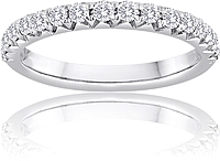 Signature Pave Set Diamond Wedding Band