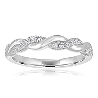Signature Twist Diamond Wedding Band