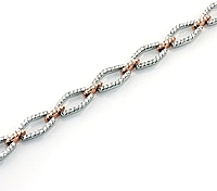 Simon G 18K Rose & White Gold Diamond Bracelet