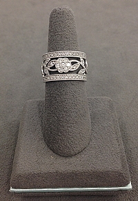 Simon G 18k White Gold Diamond Band