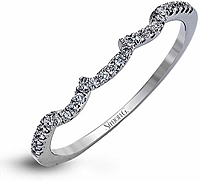 Simon G Contoured Diamond Wedding Band