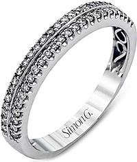 Simon G Double Row Diamond Wedding Band