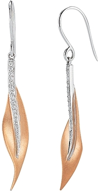 Simon G Earrings with Pave Diamond Detail