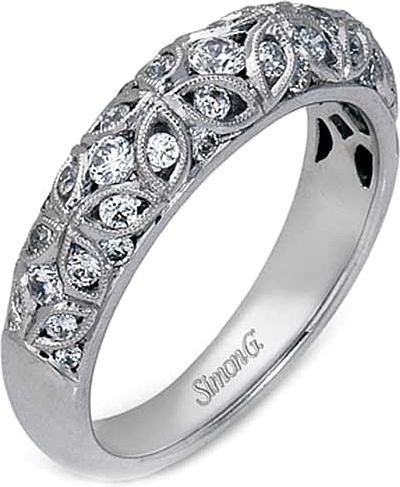 Filigree Wedding Band.Simon G Filigree Diamond Wedding Band
