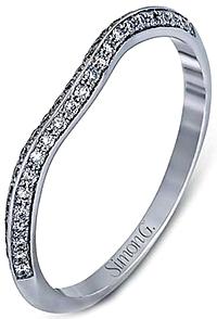 Simon G Knife Edge Diamond Wedding Band