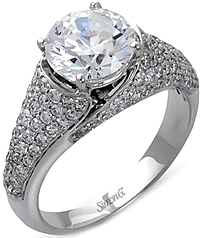 Simon G Micro-Pave Diamond Engagement Ring