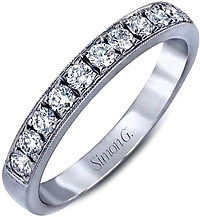 Simon G Pave Diamond Wedding Band