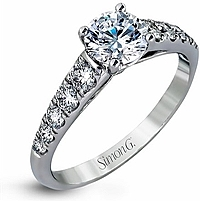 Simon G Pave Set Diamond Engagement Ring