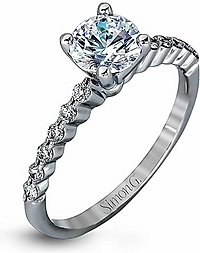 Simon G Prong Set Diamond Engagement Ring