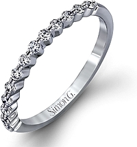 Simon G Prong Set Diamond Wedding Band