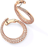 Simon G Rose Gold Hoop Earring with Pave Diamonds