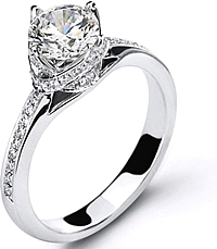 Simon G Twist-Knot Engagement Ring