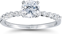 Single Prong Diamond Engagement Ring