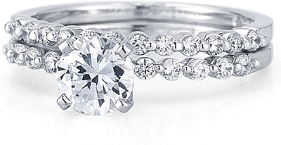 This Image Shows The Setting With A 1 00ct Round Brilliant Cut Center Diamond And