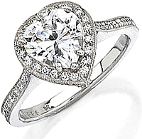 Stardust .55ct Micro Pave Engagement Ring for Heart Shaped Diamond