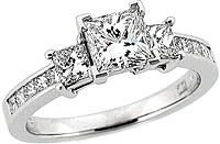 Stardust .80ct Channel Set & Prong Engagement Ring