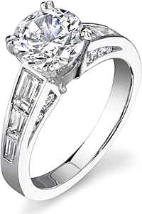 Stardust Channel Set Diamond Engagement Ring 1.35cttw