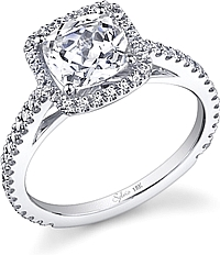 Sylvie Halo Diamond Engagement Ring