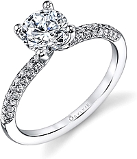 Sylvie Micro-Pave Diamond Engagement Ring