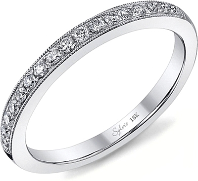 Sylvie Milgrain Pave Diamond Wedding Band 0 Reviews Write A Review View Photos