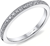 Sylvie Milgrain Pave Diamond Wedding Band