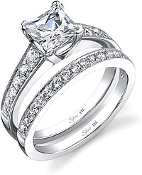 Sylvie Pave Set Diamond Engagement Ring