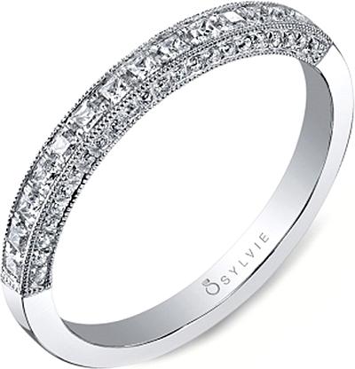 Sylvie Princess Cut Diamond Wedding Band 0 Reviews Write A Review View Photos