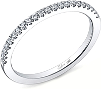 Sylvie Round Brilliant Cut Diamond Wedding Band