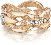 Tacori 18k Rose Gold Bold Crescent Link Ring