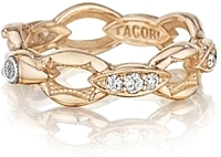 Tacori 18k Rose Gold Crescent Link Diamond Ring